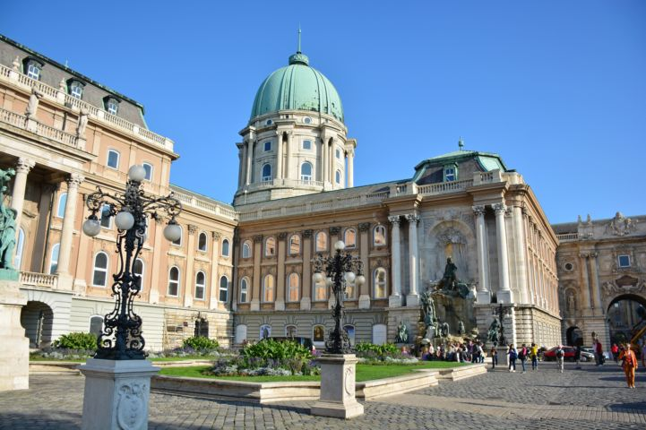 courtyard of the Buda Castle