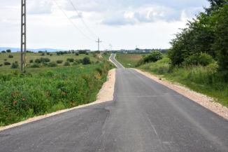 a Nemesvámos és Tótvázsony közötti bicikliút