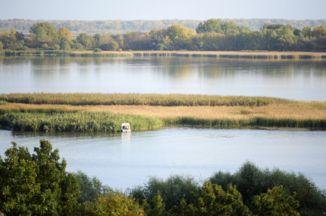 Tisza-tó a Tisza-tavi Ökocentrum Körpanorámás kilátótornyából
